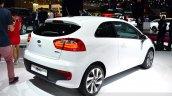 2015 Kia Rio rear three quarter at the 2014 Paris Motor Show