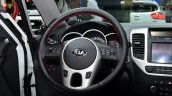 2015 Kia Venga steering wheel at the 2014 Paris Motor Show