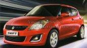 2015 Maruti Swift facelift front quarter