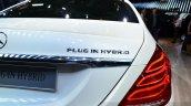 2015 Mercedes S500 Plug-in Hybrid badge at the 2014 Paris Motor Show