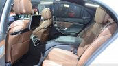 2015 Mercedes S500 Plug-in Hybrid rear seat at the 2014 Paris Motor Show