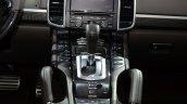 2015 Porsche Cayenne S E-Hybrid centre console at the Paris Motor Show 2014