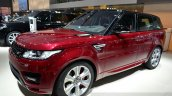 2015 Range Rover Sport front three quarter at the 2014 Paris Motor Show