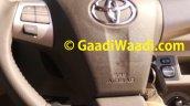 2015 Toyota Etios facelift spied airbag