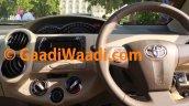 2015 Toyota Etios facelift spied dashboard