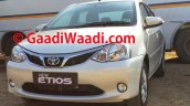 2015 Toyota Etios facelift spied front fascia