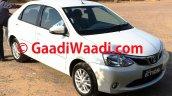2015 Toyota Etios facelift spied front three quarter