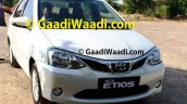 2015 Toyota Etios facelift spied front