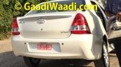 2015 Toyota Etios facelift spied rear