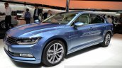 2015 VW Passat front three quarters left at the 2014 Paris Motor Show