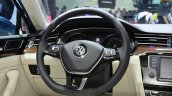 2015 VW Passat steering wheel at the 2014 Paris Motor Show