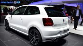 2015 VW Polo GTI rear three quarter at the 2014 Paris Motor Show