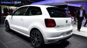 2015 VW Polo GTI rear three quarter at the 2014 Paris Motor Show