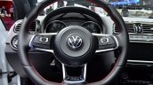 2015 VW Polo GTI steering wheel at the 2014 Paris Motor Show
