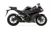 2015 Yamaha YZF-R3 Midnight Black side