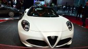 Alfa Romeo 4C Spider Preview Version front at the 2014 Paris Motor Show