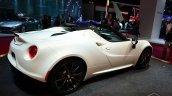 Alfa Romeo 4C Spider Preview Version rear three quarters angle at the 2014 Paris Motor Show