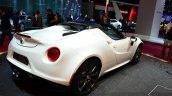 Alfa Romeo 4C Spider Preview Version rear three quarters right at the 2014 Paris Motor Show