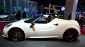 Alfa Romeo 4C Spider Preview Version side at the 2014 Paris Motor Show