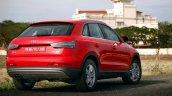 Audi Q3 Dynamic rear quarters Review