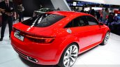 Audi TT Sportback concept rear three quarters right at the 2014 Paris Motor Show