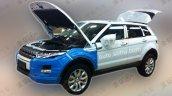 China-made Range Rover Evoque spied front three quarter