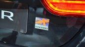Jaguar XF special edition badge at the 2014 Paris Motor Show