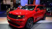 Jeep Grand Cherokee SRT Red Vapor front three quarters at the 2014 Paris Motor Show