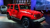 Jeep Wrangler Unlimited X front three quarters at the Paris Motor Show 2014