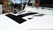 Land Rover Defender Black Pack bonnet decal for France at the 2014 Paris Motor Show