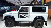 Land Rover Defender Black Pack side for France at the 2014 Paris Motor Show