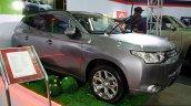 Mitsubishi Outlander PHEV front three quarter at the 2014 Colombo Motor Show Sri Lanka