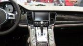 Porsche Panamera S E-Hybrid centre console at the 2014 Paris Motor Show