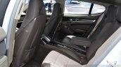 Porsche Panamera S E-Hybrid rear seat at the 2014 Paris Motor Show