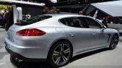 Porsche Panamera S E-Hybrid rear three quarter at the 2014 Paris Motor Show
