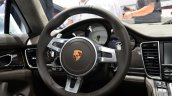 Porsche Panamera S E-Hybrid steering at the 2014 Paris Motor Show