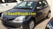 Spied Toyota Etios Liva facelift front quarter