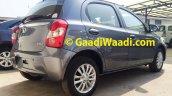 Spied Toyota Etios Liva facelift rear quarter