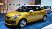 Suzuki Swift Facelift three-door front three quarters at the 2014 Paris Motor Show