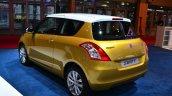 Suzuki Swift Facelift three-door rear three quarters at the 2014 Paris Motor Show
