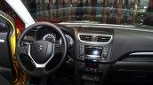 Suzuki Swift Facelift three-door steering wheel at the 2014 Paris Motor Show