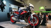 Triumph Street Triple RX front three quarters left at the INTERMOT 2014