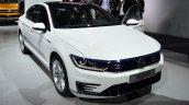 VW Passat GTE front three quarters at the 2014 Paris Motor Show