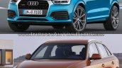 2015 Audi Q3 facelift vs older model front