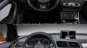 2015 Audi Q3 facelift vs older model interior