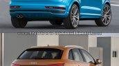 2015 Audi Q3 facelift vs older model rear