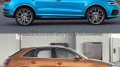 2015 Audi Q3 facelift vs older model side