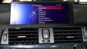 2015 BMW M3 iDrive infotainment screen for India