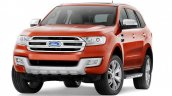 2015 Ford Endeavour front quarter