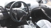 2015 Hyundai Accent dashboard at the 2014 Los Angeles Auto Show